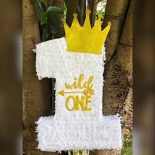 ANY NUMBER Wild One Birthday Party Pull Strings Pinata - 40cm