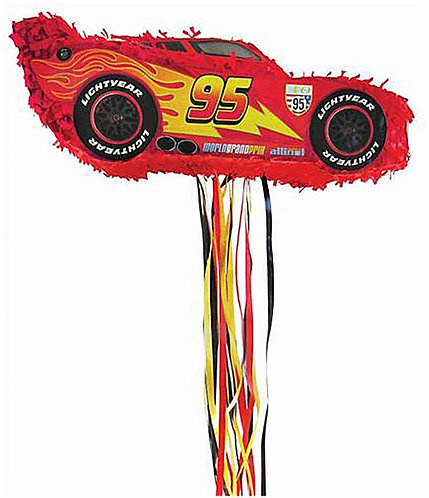 Cars Birthday Party Pull Strings Pinata -40 cm