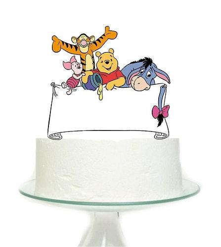 Winnie the Pooh Big Topper for Cake - 1 pcs set