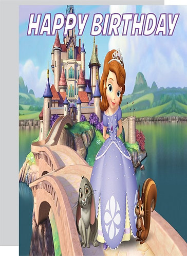 Princess Sofia the First HAPPY BIRTHDAY Congratulation Card