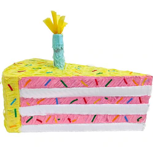 Cake Slice Birthday Party Pull Strings Pinata -40 cm