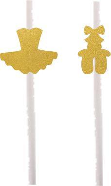 Golden or silver Ballerina Dress Shoes Cakepops Toppers - 12 pcs set