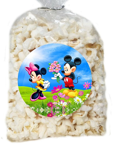 Mickey Minnie Giveaways Clear Bags for Popcorn or Candies - 12 pcs set