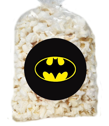 Batman Logo Giveaways Clear Bags for Popcorn or Candies - 12 pcs set