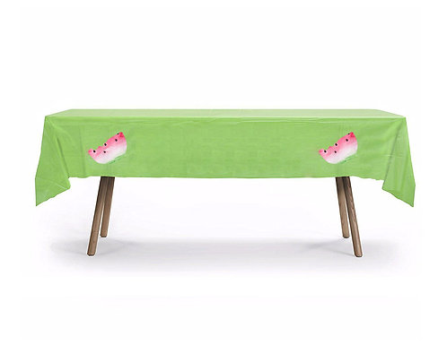 Watermelon Plastic Table Cover with Stickers - 140 cm x 275cm