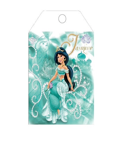 Princess Jasmin Aladdin Gifts Tags - 12 pcs set