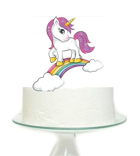 Unicorn Rainbow Big Topper for Cake - 1 pcs set