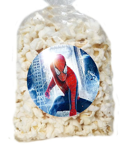 Spiderman Giveaways Clear Bags for Popcorn or Candies - 12 pcs set