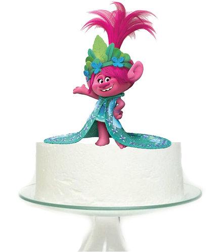 Princess Poppy Trolls Big Topper for Cake - 1 pcs set