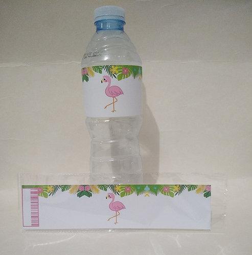 Flamingo Water Bottles Stickers - 6 pcs set