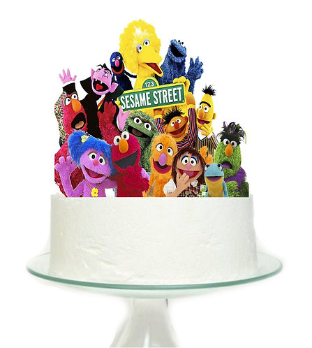 Sesame Street Big Topper for Cake - 1 pcs set