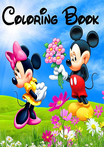 Mickey and Minnie Small Coloring Book