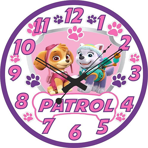 Paw Patrol Skye Everest Clock