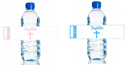 Baptism Christening Water Bottles Stickers - 6 pcs set