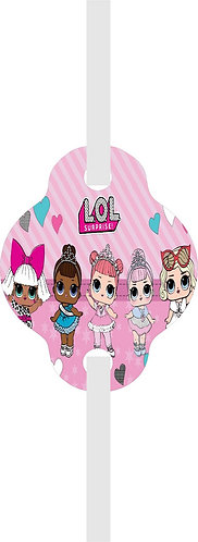 LOL Surprise Dolls Straws - 12 pcs set