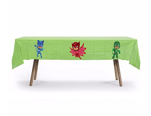 PJ Masks Plastic Table Cover with Stickers - 140 cm x 275cm
