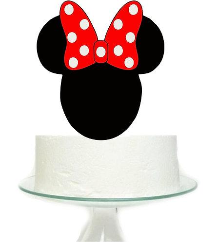 Minnie Head Big Topper for Cake - 1 pcs set