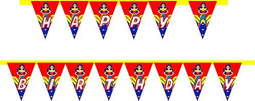 Wonder Woman DC Girls HAPPY BIRTHDAY Banner