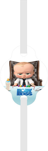 Boss Baby Straws - 6 pcs set