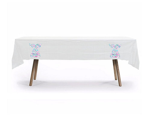 Mermaid Plastic Table Cover with Stickers - 140 cm