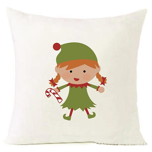 Christmas Elf Girl Cushion Decorative Pillow COTTON OR LINEN -40cm