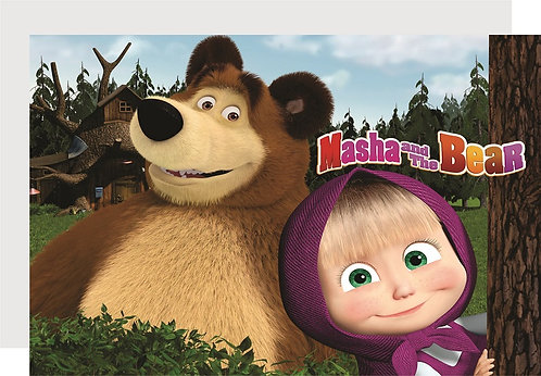 Masha and the Bear Invitations - 6pcs party invites