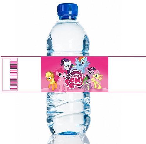 My Little Pony Water Bottles Stickers - 6 pcs set
