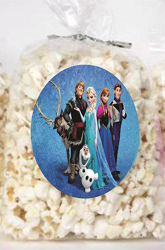 Frozen Giveaways Clear Bags for Popcorn or Candies - 12 pc