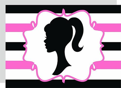 Barbie Head Invitations - 6pcs party invites