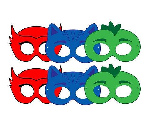 Pj Masks Party Masks - 6 pcs or 12 pcs