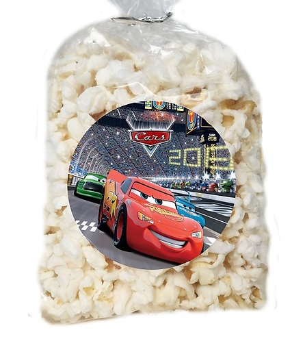 Cars Giveaways Clear Bags for Popcorn or Candies - 12 pcs set