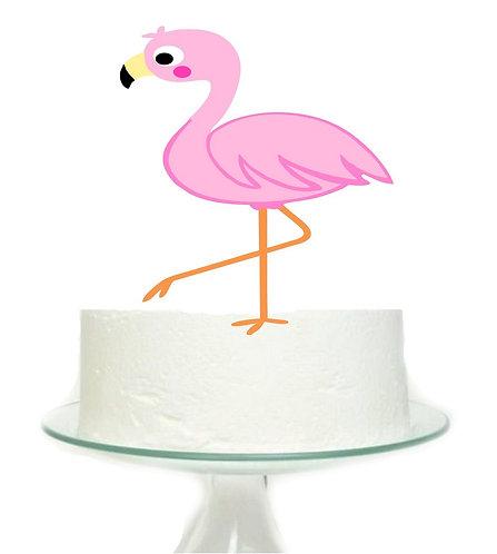 Flamingo Big Topper for Cake - 1 pcs set