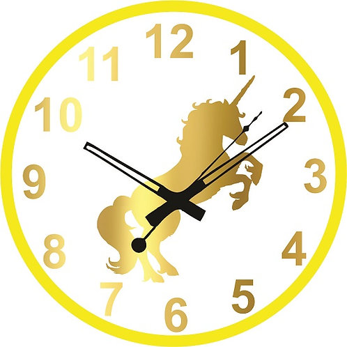 Unicorn Horse Clock