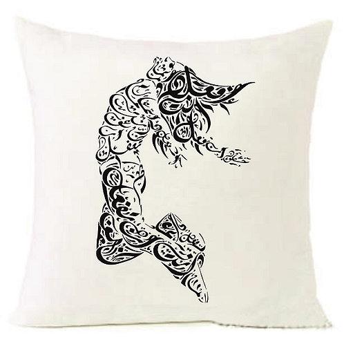Arabic Letters WOMAN Cushion Decorative Pillow COTTON OR LINEN - 40