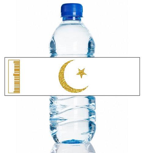 EID Ramadan Water Bottles Stickers - 6 pcs set