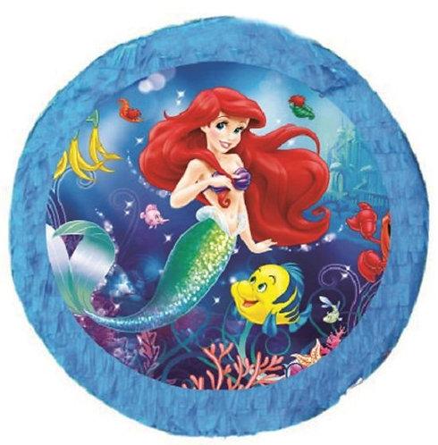 Ariel Little Mermaid Birthday Party Pull Strings Pinata - 35 cm