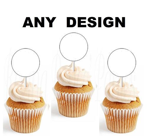 Custom Cupcakes Topper- 12 pcs set