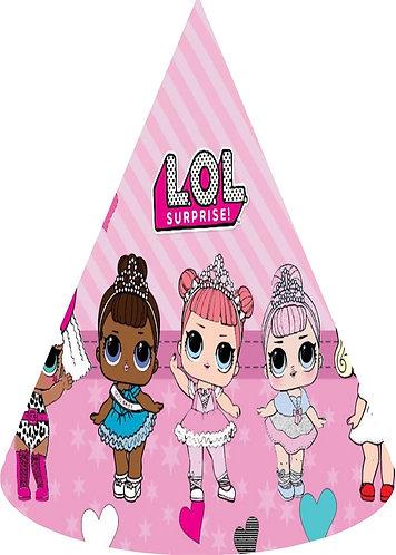 Lol Surprise Dolls Party Hats - 12 pcs