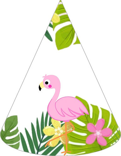 Flamingo Party Hats - 6pcs