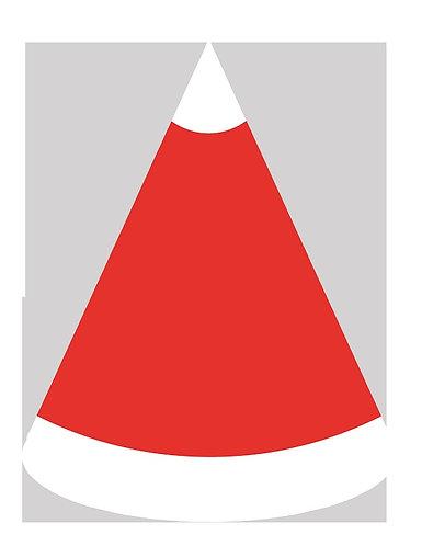 Christmas Santa Claus Hat Party Hats - 6pcs