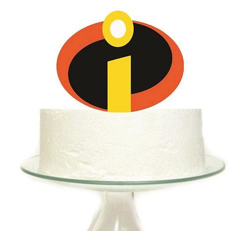 Incredibles Logo Superheroes Big Topper for Cake - 1pcs set