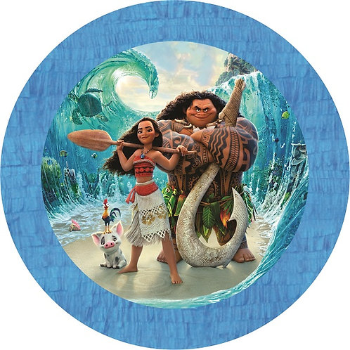 Moana Party Pull Strings Pinata - 35cm