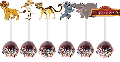 Lion King Lion Guard Characters Cakepops Toppers - 12 pcs set