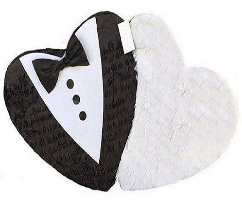 MR & MRS Wedding Engaged Heart Pull Strings Pinata -60cm