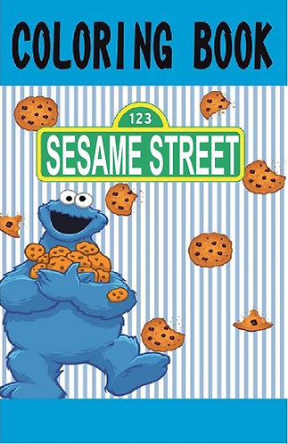 Sesame Street Cookie Monster Small Coloring Book