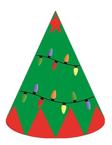 Christmas Tree Party Hats - 6pcs