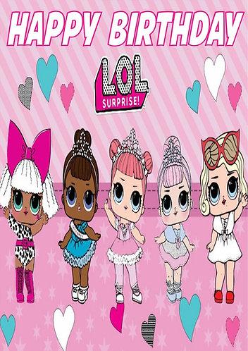LOL Surprise Dolls HAPPY BIRTHDAY Congratulation Card
