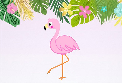 Flamingo Invitations - 6pcs party invites