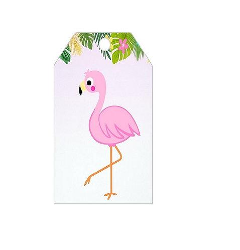 Flamingo Gifts Tags - 12 pcs set