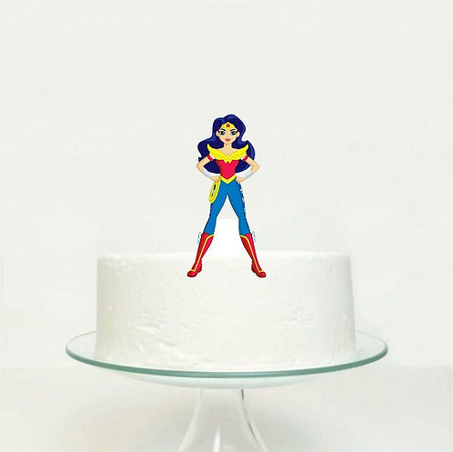 Wonder Woman Superheroe DC Girls Big Topper for Cake - 1 pcs set